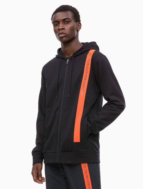 CALVIN KLEIN BOLD STRIPE JACKET WITH HOOD