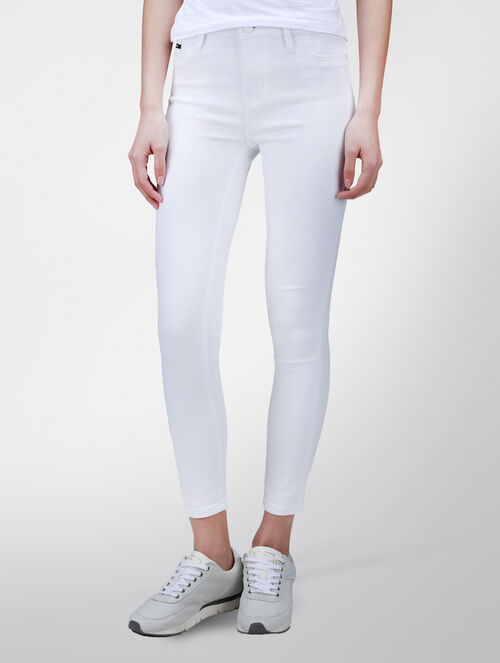 CALVIN KLEIN INFINITE WHITE HIGH RISE SKINNY PANTS