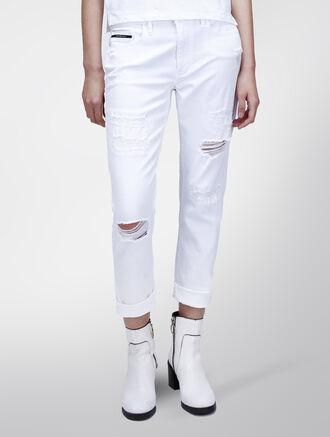 CALVIN KLEIN SLIM BOYFRIEND PANTS