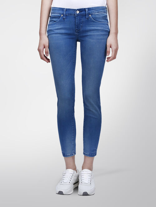 CALVIN KLEIN FLIGHT BLUE BODY ANKLE JEANS