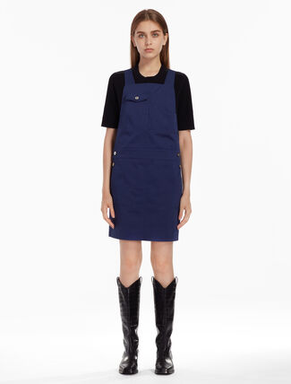 CALVIN KLEIN CLEAN COTTON DRILL MINI DRESS
