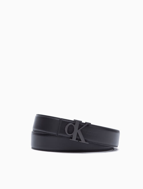 CALVIN KLEIN MONOGRAM REVERSIBLE BELT 38MM