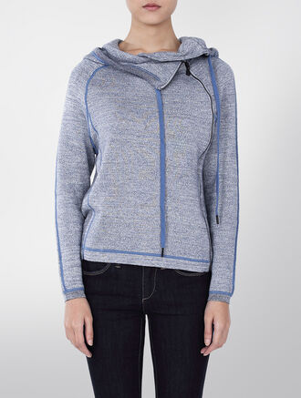 CALVIN KLEIN CORA TERRY FLEECE SWEATER CARDIGAN