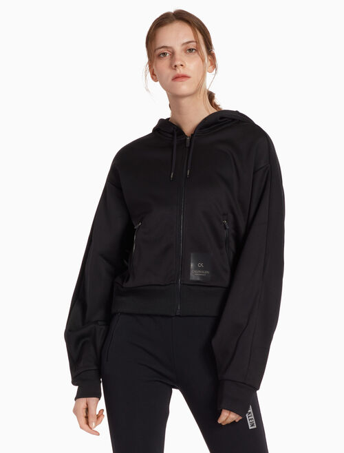 CALVIN KLEIN BIG ICON SWEAT JACKET WITH HOOD