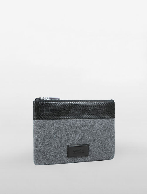 CALVIN KLEIN MEDIUM ZIP POUCH-MIX