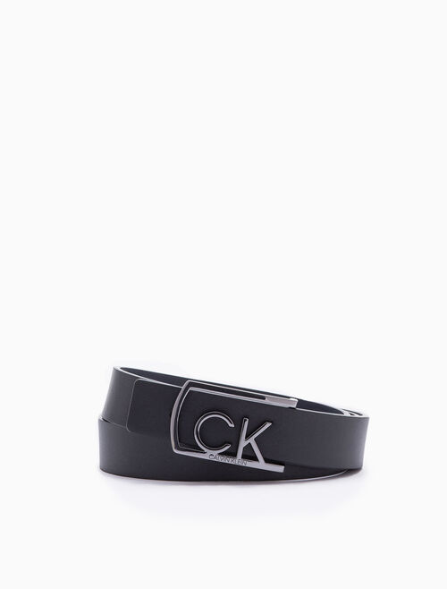 CALVIN KLEIN SIGNATURE LOGO BUCKLE BELT