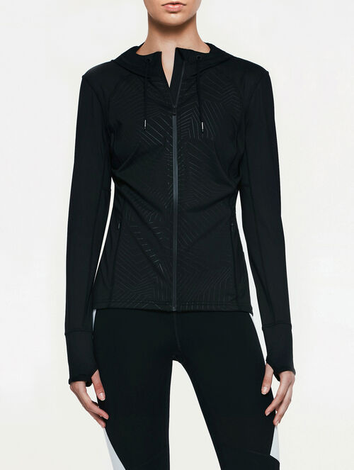 CALVIN KLEIN REFLECTIVE PRINT SWEAT JACKET