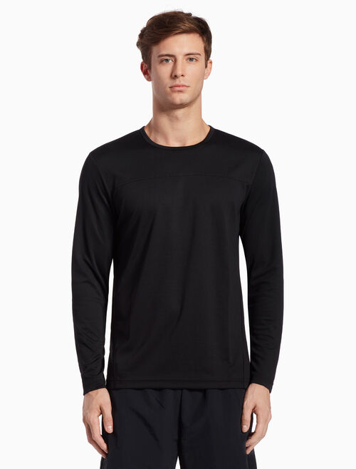 CALVIN KLEIN KNIT LONG SLEEVE TEE WITH MESH PANELS