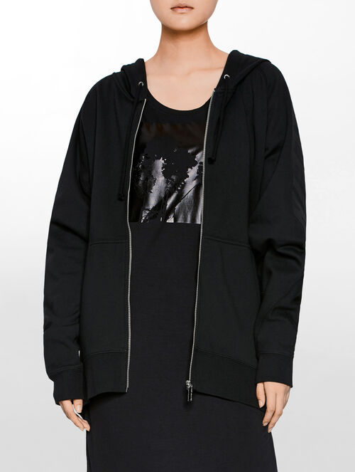 CALVIN KLEIN WOMEN - HYPER CURVE OVERSIZED HOODED COAT