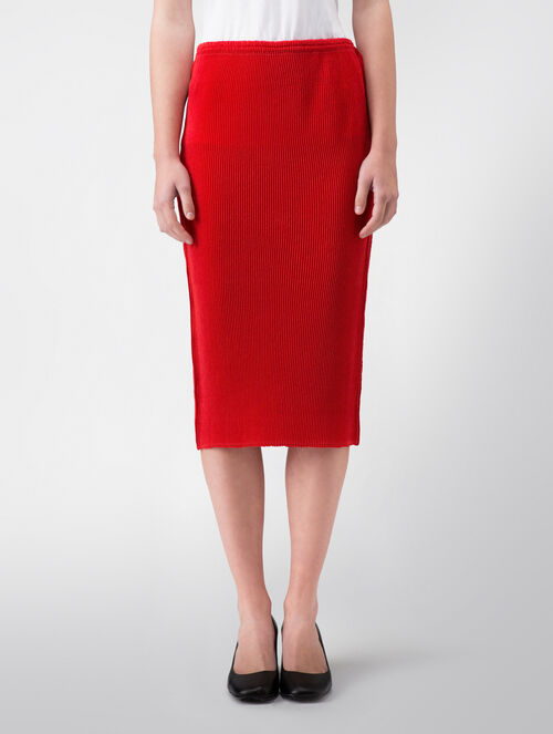 CALVIN KLEIN MATTE PLEATED POLY SKIRT