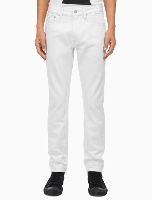 CALVIN KLEIN Warhol Portrait Denim Athletic Taper Jeans