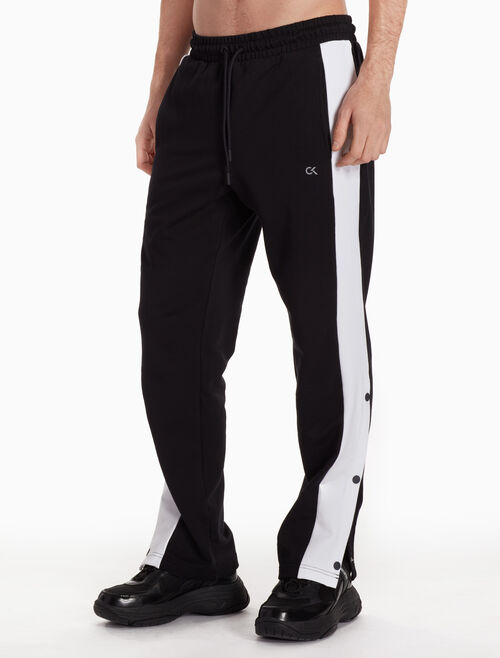 CALVIN KLEIN SIDE SNAP BUTTON TRACK PANTS