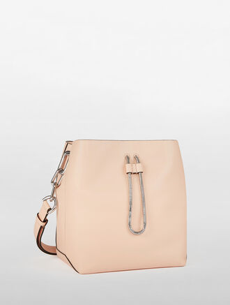 CALVIN KLEIN ENVELOPED BUCKET BAG
