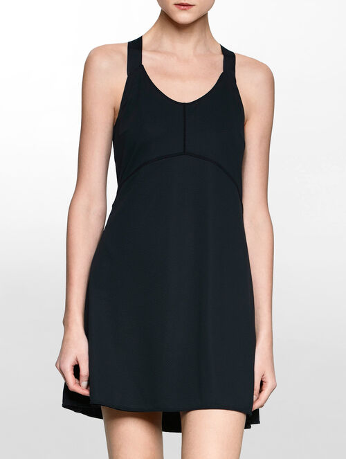 CALVIN KLEIN REVERSIBLE 2 LAYERS DRESS WITH CROSS BACK