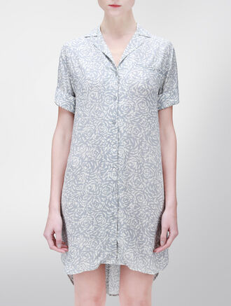 CALVIN KLEIN ALL OVER PRINTED NIGHTSHIRT