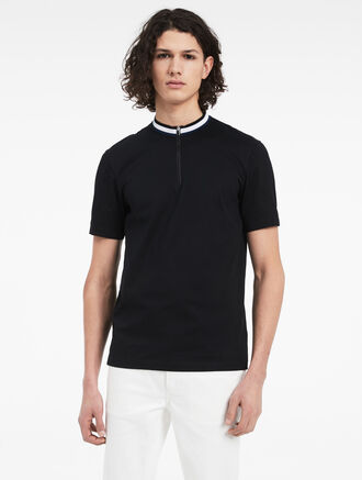 CALVIN KLEIN DOUBLE MERCERIZED COTTON TOP