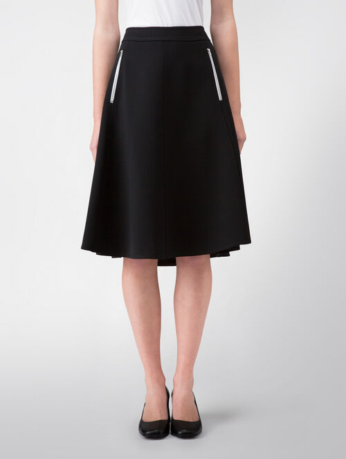 CALVIN KLEIN TWISTED STRETCH SEAMED SKIRT - FULLY LINED