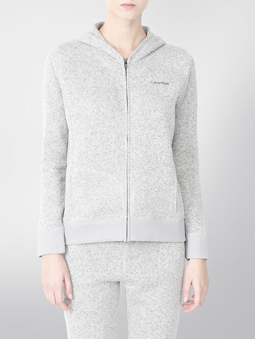CALVIN KLEIN PLUSH LONG SLEEVES HOODY