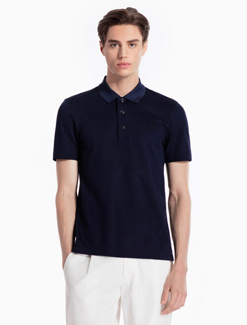 CALVIN KLEIN KNITTED POLO SHIRT