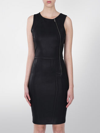 CALVIN KLEIN RAINY NEOPRENE DRESS
