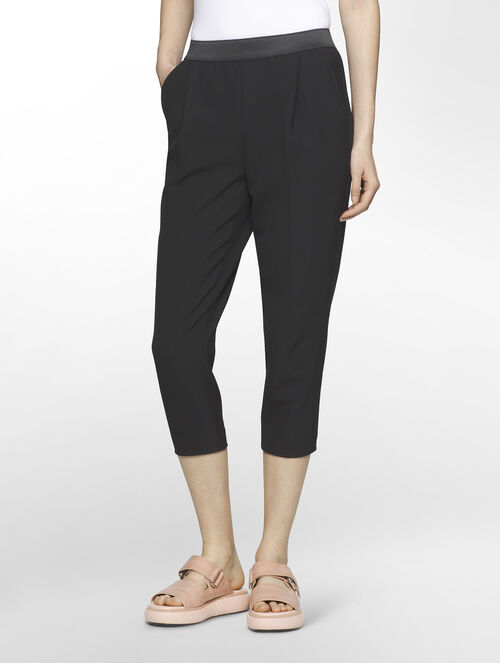 CALVIN KLEIN MODERN STRETCH CARROT PANTS - ELASTIC BAND( PHILLIPA FIT )