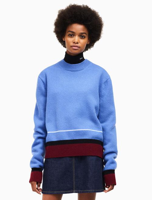 CALVIN KLEIN chunky crew neck sweater
