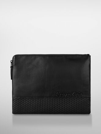 CALVIN KLEIN HONEY COMB LARGE PORTFOLIO