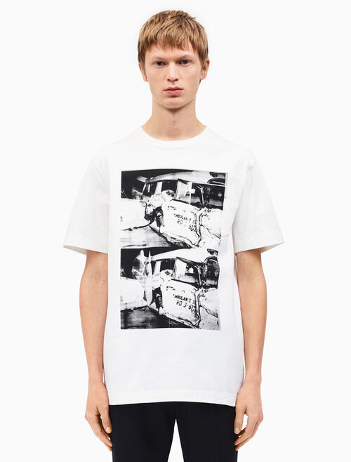 CALVIN KLEIN ambulance disaster patch pocket t-shirt
