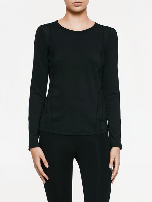 CALVIN KLEIN FABRIC MIX LONG SLEEVES TEE