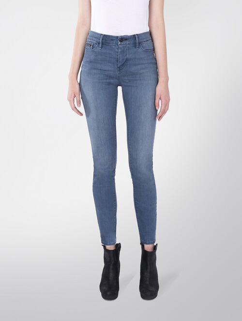 CALVIN KLEIN HIGH RISE SKINNY JEANS - STEEL BLUE