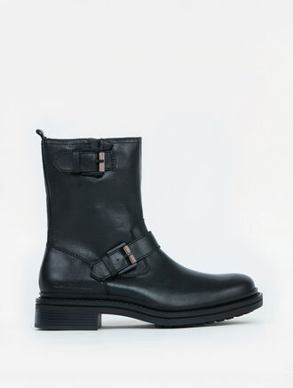 CALVIN KLEIN KRIS LEATHER BOOTS
