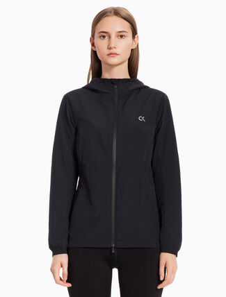 CALVIN KLEIN Hooded Windbreaker Jacket With Reflective Tape