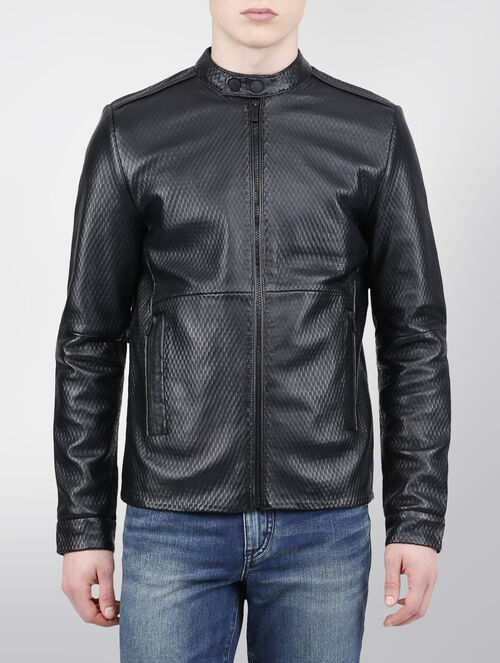 CALVIN KLEIN NOOK LEATHER JACKET