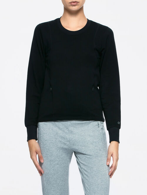 CALVIN KLEIN LONG SLEEVES PULLOVER WITH MESH