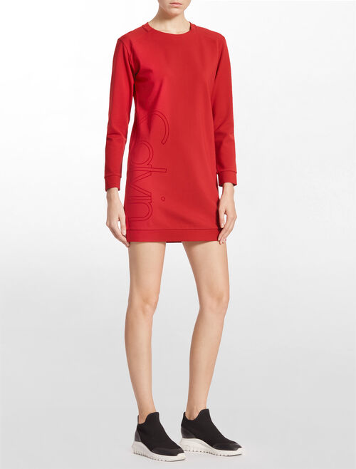 CALVIN KLEIN CALVIN SWEAT TUNIC WITH LONG SLEEVES