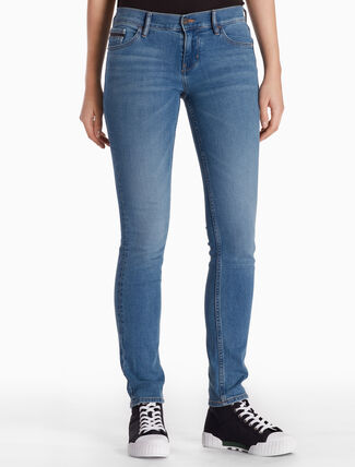 CALVIN KLEIN ISOLATION BLUE STRAIGHT SKINNY JEANS