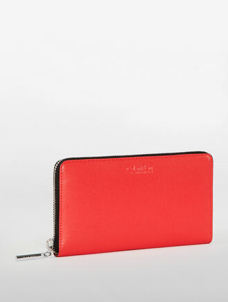 CALVIN KLEIN CONTINENTAL ZIPPER WALLET