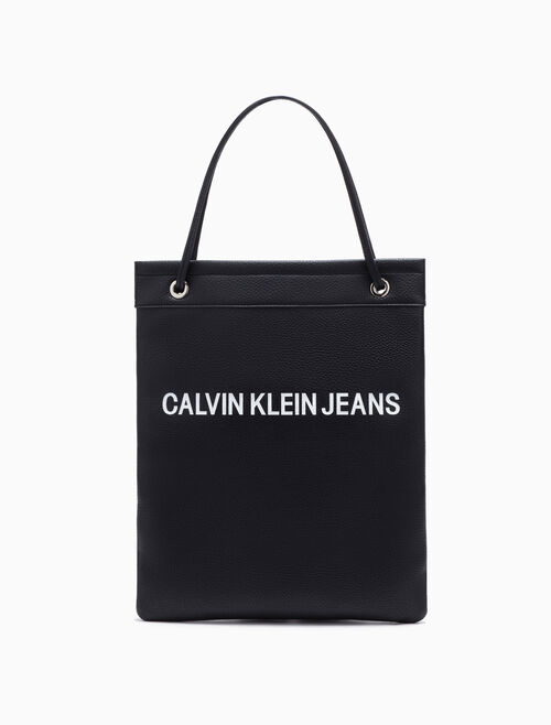 CALVIN KLEIN Pebble Essentials Flat Tote Bag