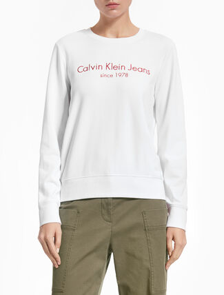 CALVIN KLEIN HALIA INSTITUTIONAL PULLOVER SWEATSHIRT