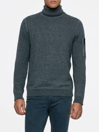 CALVIN KLEIN SECTOR 3 V NECK SWEATER