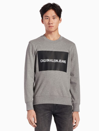 CALVIN KLEIN CALVIN JEANS LOGO BOX INSTITUTIONAL SWEATSHIRT