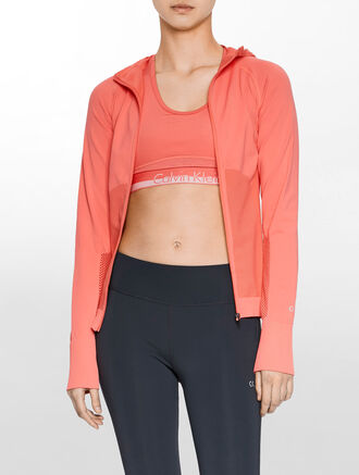 CALVIN KLEIN SEAMLESS HOODED JACKET