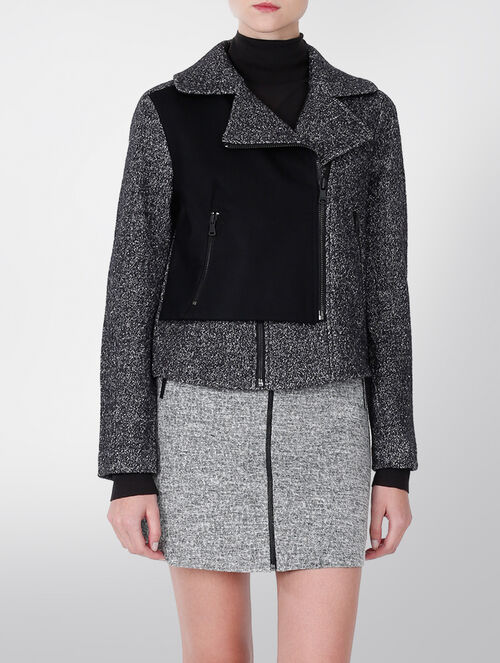 CALVIN KLEIN ADA TEXTURED WOOL JACKET