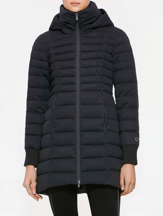 CALVIN KLEIN LONG DOWN WITH REMOVABLE HOOD JACKET
