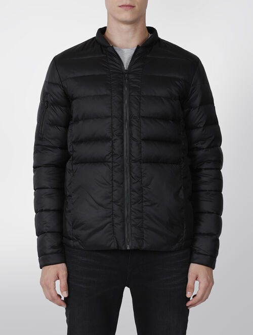CALVIN KLEIN BASEBALL COLLAR DOWN JACKET