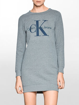 CALVIN KLEIN AR-DOVALINA LOGO DRESS