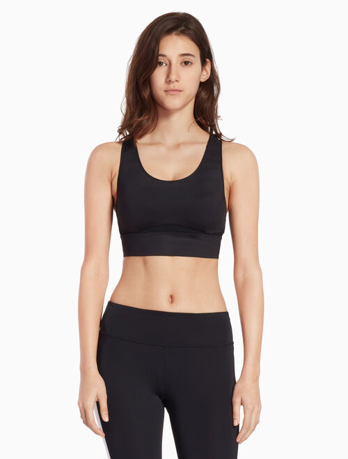 CALVIN KLEIN BONDED BRA WITH MESH PANELS