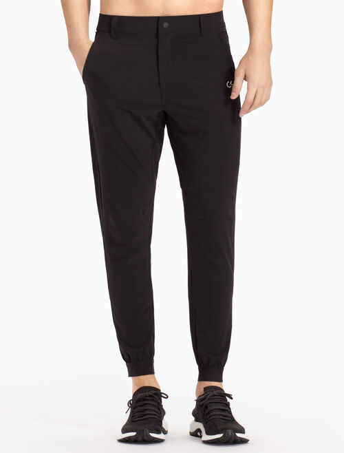 CALVIN KLEIN WOVEN TAPERED SWEAT PANTS WITH BELT LOOPS