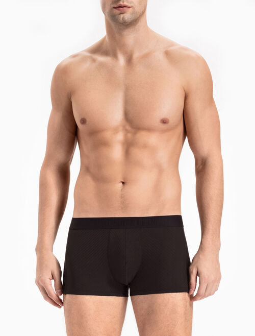 CALVIN KLEIN CK BLACK SHEER STRIPE LOW RISE TRUNK