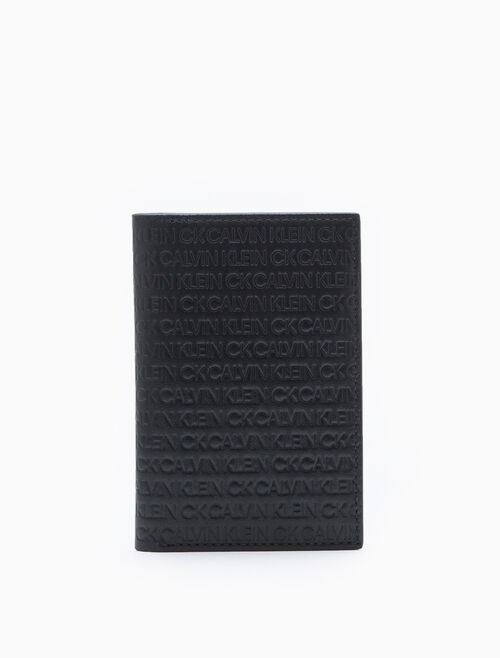 CALVIN KLEIN ALL-OVER LOGO SLIM CARDCASE